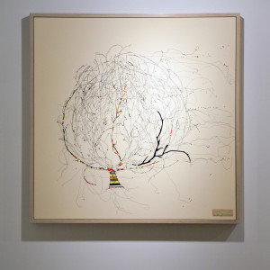 Textile Artist Louise Gardiner, , Free Machine Embroidery, You Blow Me Away, Collect at the Saatchi Gallery, Painting and Applique