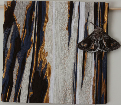 Cup Moth quilt by Lucy Carroll 2014 40 x 40cm