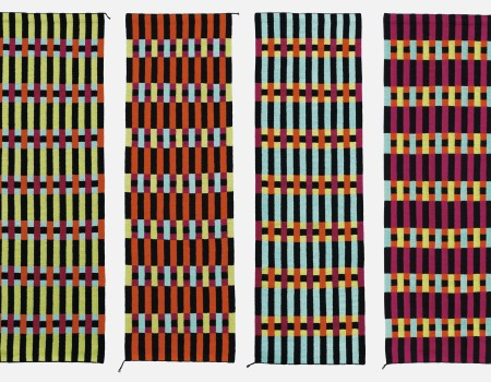 5. Brita Been, tapestry, RUNNER IV, V, VI, VII  2009  80 x 265 cm x 4 pieces