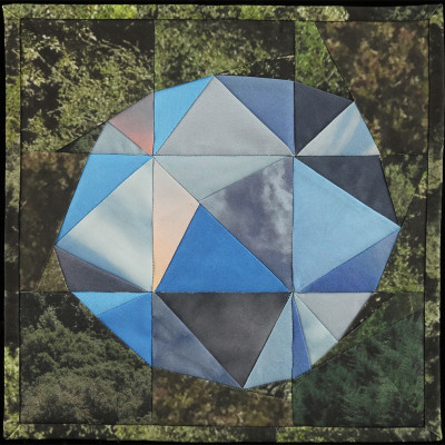 Amber Jean Young, quilt, Sky Orb II