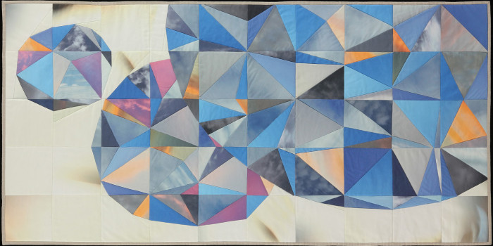 Amber Jean Young, quilt, Sky Orb -- Wild Blue Yonder