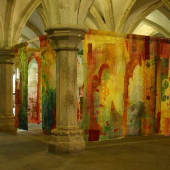 Cas Holmes, 2008, Traces install Rochester Cathedral (2)