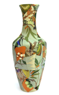 zoehillyard-ceramic-patchwork_tropical-vase-2013_silk-ceamic-thread_35cmx15cm