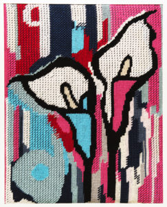 NIKI MCDONALD, tapestry, Urban Bouqet, wool, needlepoint tapestry, 100x120cm 2016
