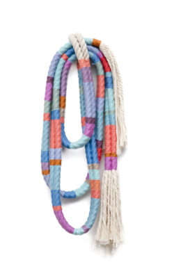 Alicia Scardetta textiles - Lariat Two Strand-2017-18x7inches-wool and cotton rope