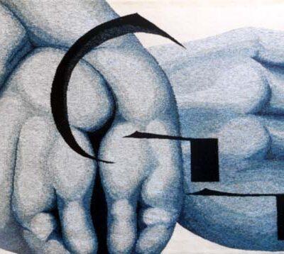 """""""Tata kau"""", 1997,175 x 130 cm"""
