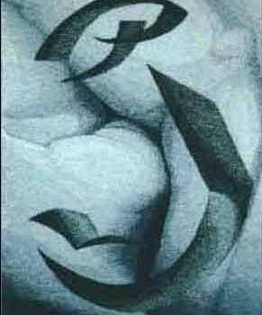 """Kenka-ude"", 1996, 130 x 175 cm"