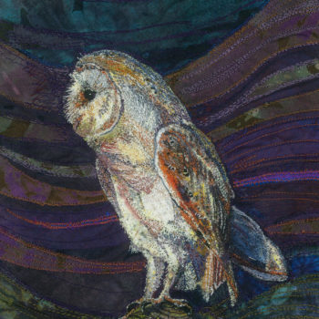 Rachel Wright - textiles barn owl on post