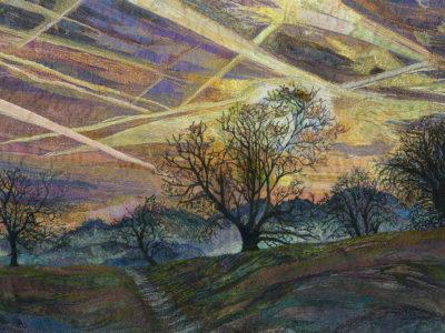 Rachel Wright Textiles sky trails