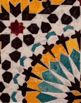 Moroccan tile-Sunrise, Natalie Fisher textile curator