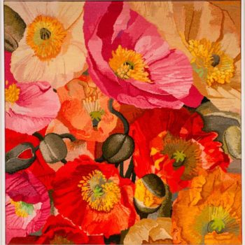 Natalie Fisher, Poppies, textiles