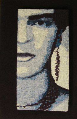 Barbara Burns tapestry Blue-Frida-II