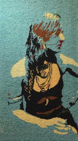 Barbara Burns tapestry, Ingrid, Dancer in Repose