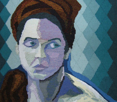 Barbara Burns, tapestry, Woman With Red Turban