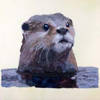 Janine Heschl Textile Art - Otter