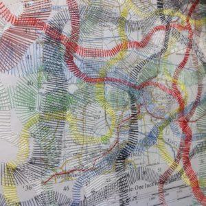 Elisabeth Rutt, Desire Lines, art textiles
