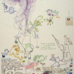 Tilleke Schwarz, embroidery, found- 2017 55 x 68