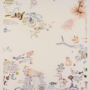 Tilleke Schwarz, embroidery,Look, it's biodegradable-180x180 2017