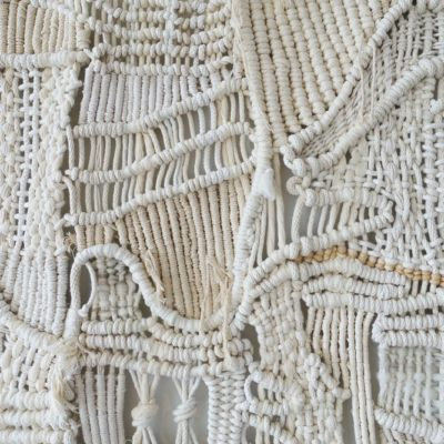 macrame and weaving details